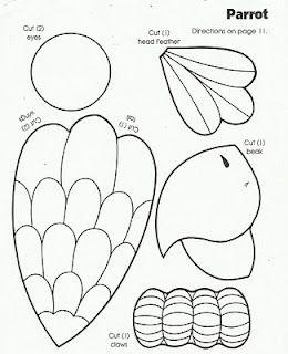 Parrot Print Out Bird Crafts Preschool Rainforest Crafts