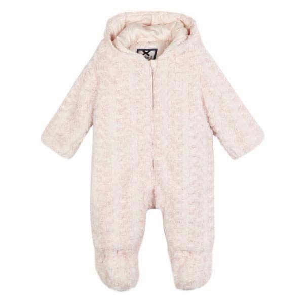 ce73f5c41 Junior J Jasper Conran Baby Girls Snowsuit Pramsuit Faux Fur Romper ...