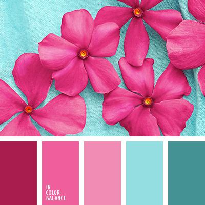 Pink Complementary Color vibrant pink color palette | color palettes | pinterest | pink