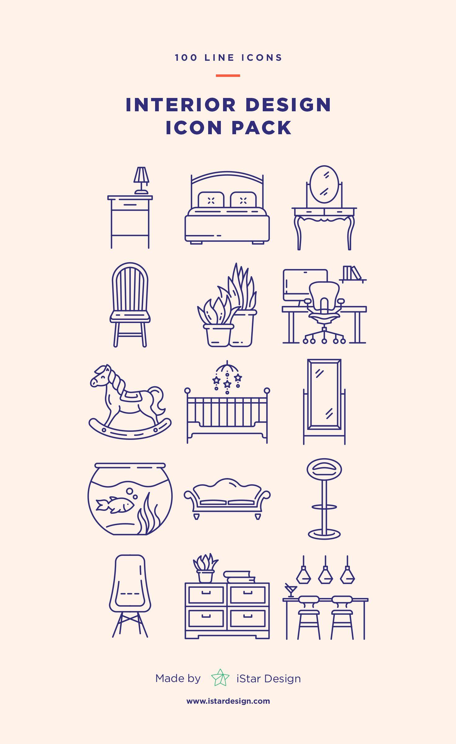 Interior Design Icons Set 画像あり アイコンデザイン ポスター