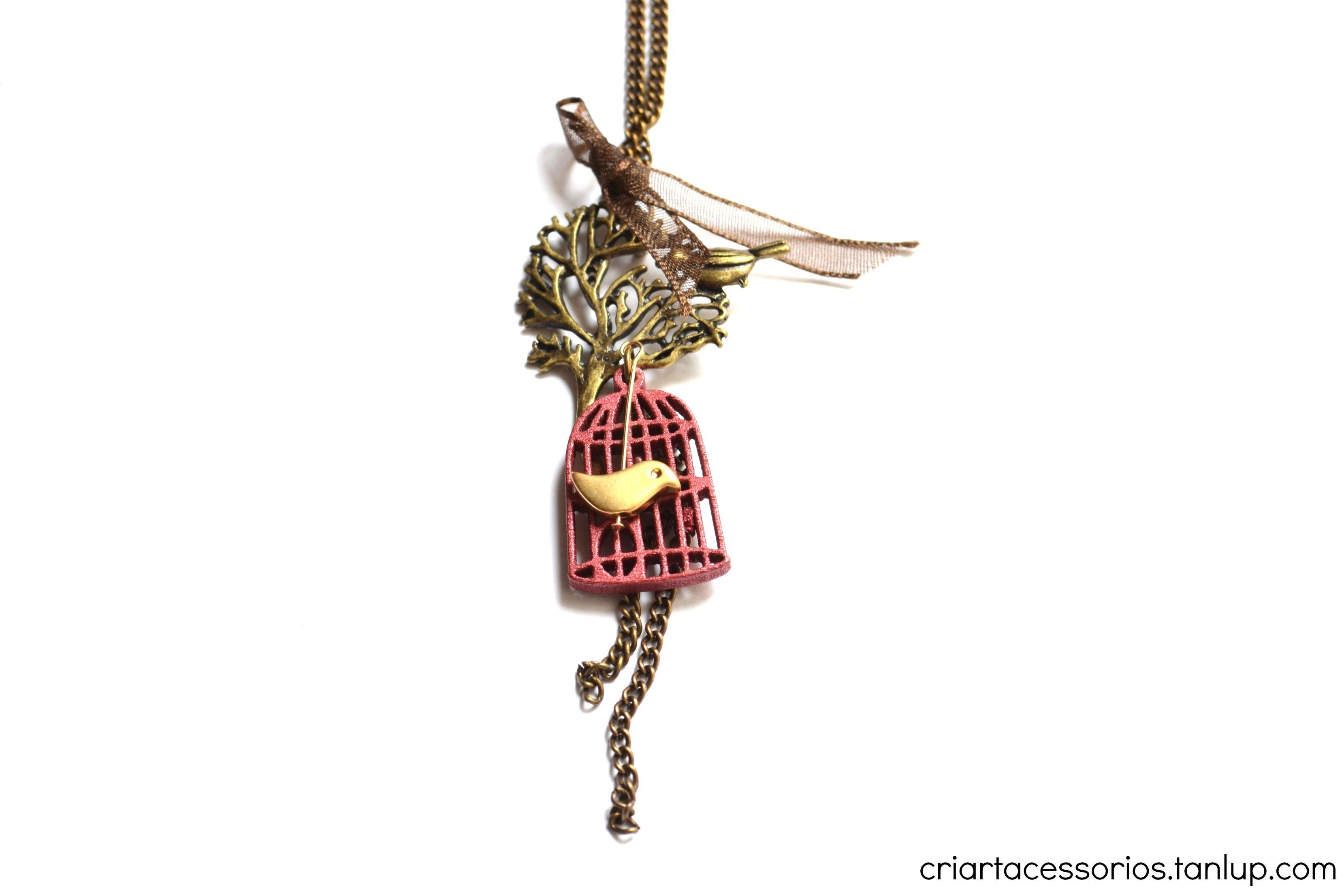 Colar passarinho  www.criartacessorios.com.br