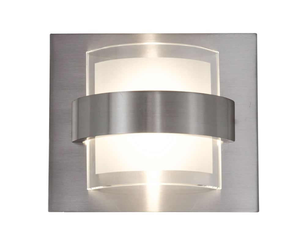 Alternating Current Ac1311 Restraint 1 Light Led Wall Sconce Ada Compliant Polished Chrome Indoor Lighting Wall Sconces Products Bathroom Sconces Sconces Led Wall Sconce