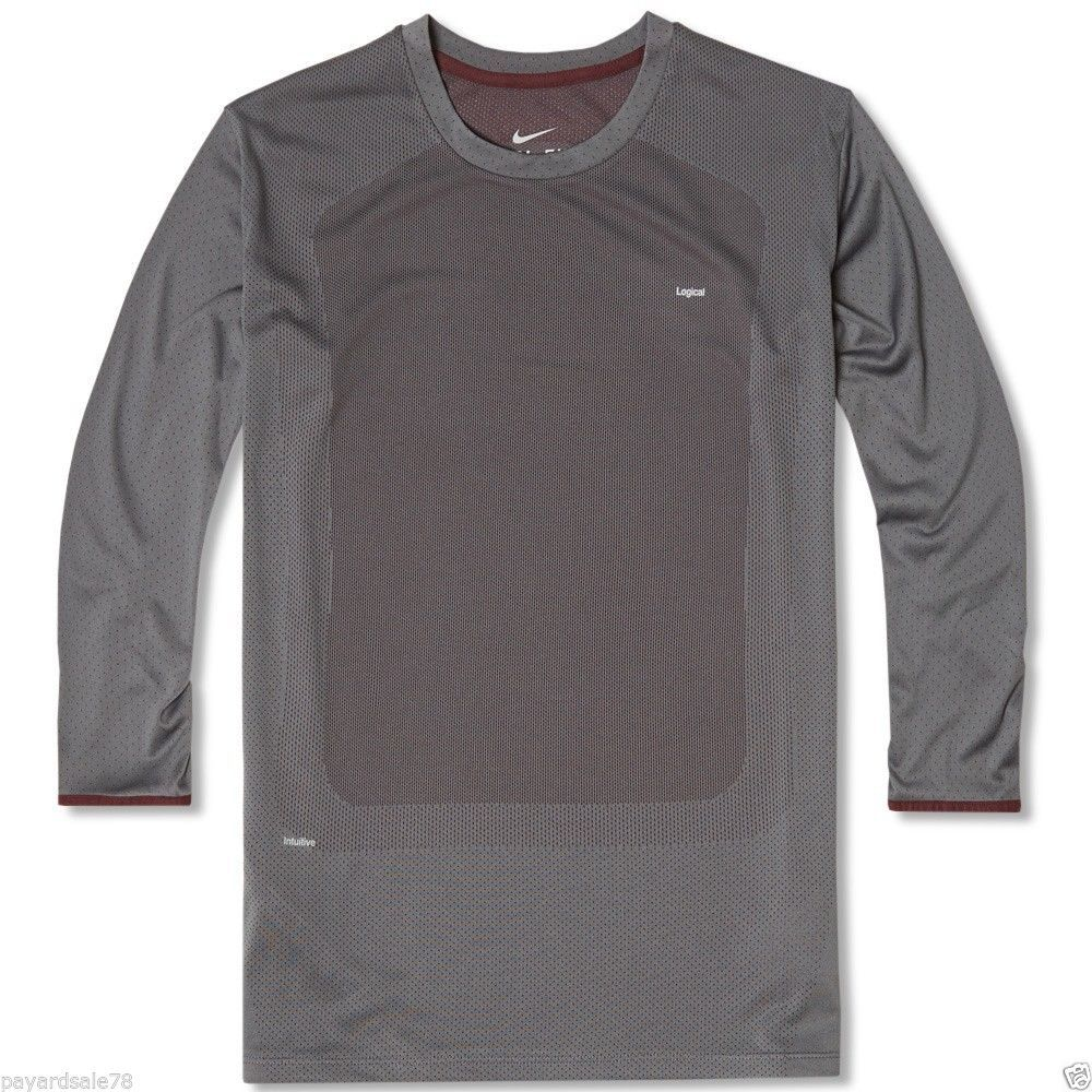 MEN'S LONG SLEEVE UNDERCOVER LAB GYAKUSOU SWEAT MAP RUNNING SHIRT SIZE XL GRAY X #Nike #ShirtsTops