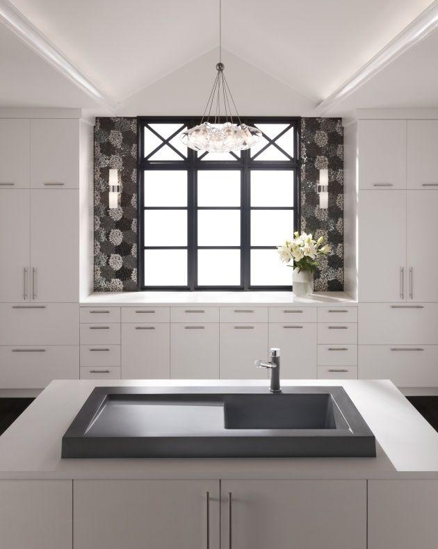 granit küchenspüle modex küche asche grau modern kratzfest Ideen - wasserhahn für küchenspüle