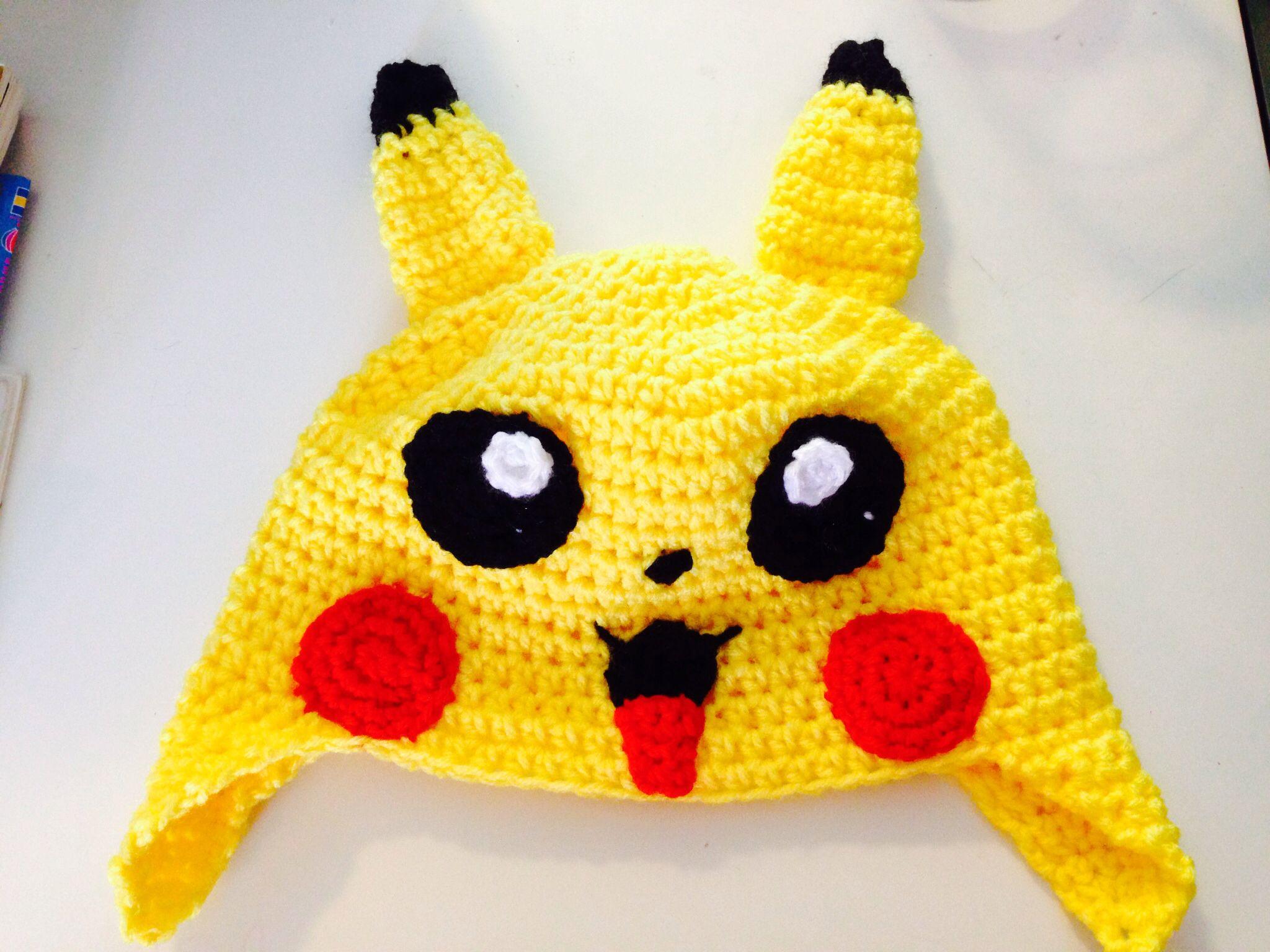Crochet Pokemon pikachu hat pattern for at taken from http://www ...