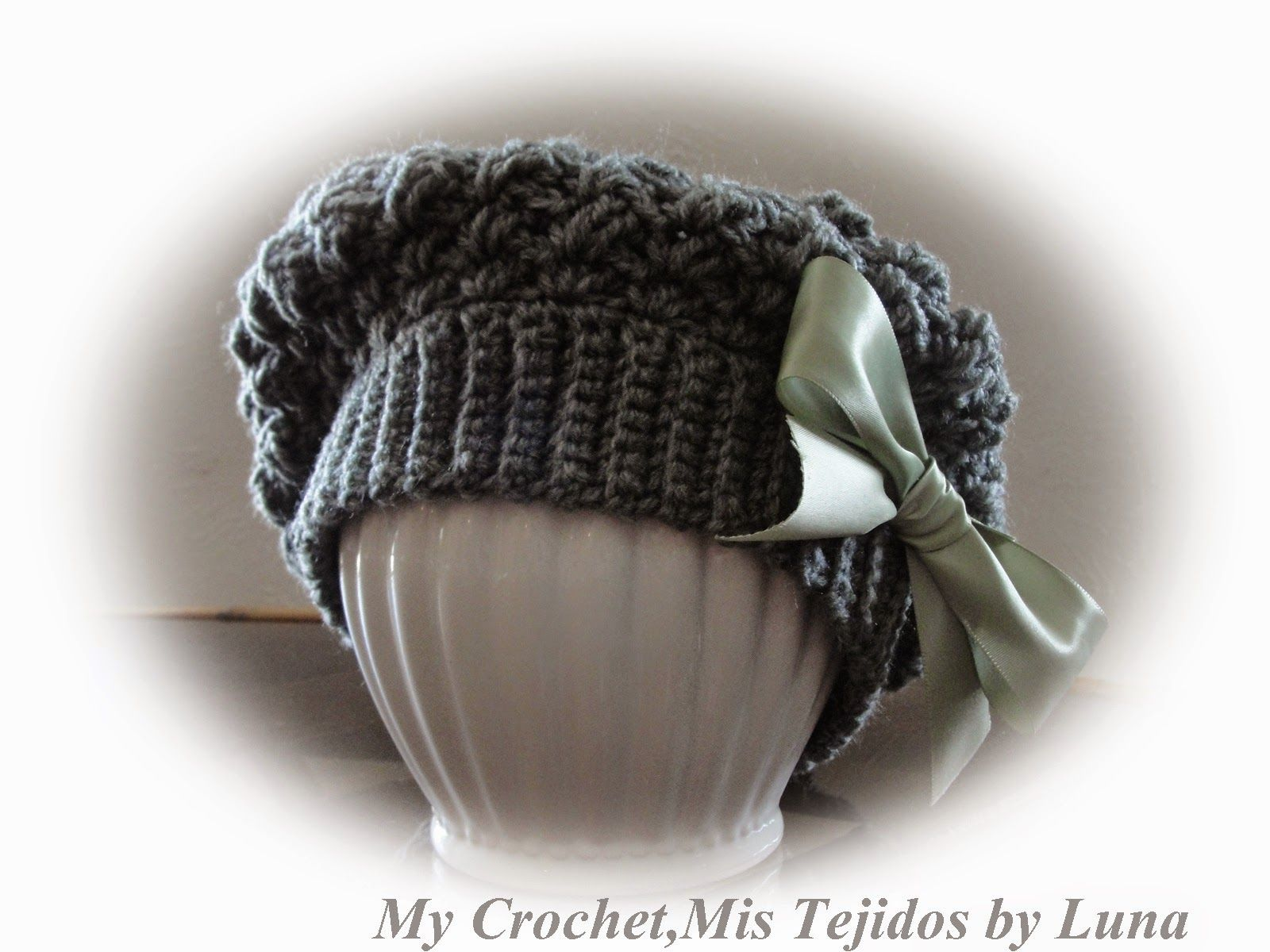 My Crochet , Mis Tejidos: Slouchy Hat / Gorro Aguado | Gorros ...