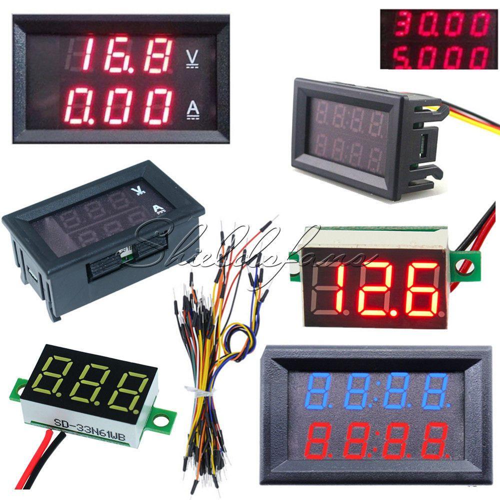 SODIAL 3pcs LED Digital DC 0-100V 10A Voltage Amp Volt Meter Panel Dual Voltmeter Ammeter Tester