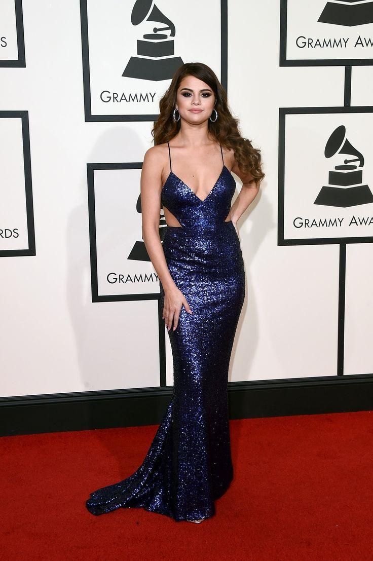 Selena Gomez in Calvin Klein Collection. Grammys 2016 Red Carpet ...