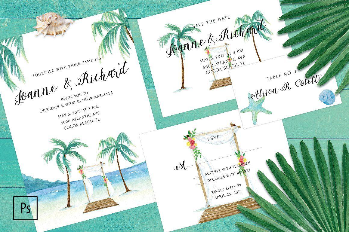 Beach Wedding Invitation Kit | Invitation kits, Beach wedding ...