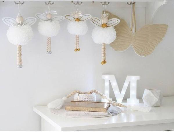 Classical Ballet Girl Adornment Wooden Beads Ornament Dancer Nursery Baby Room Decor