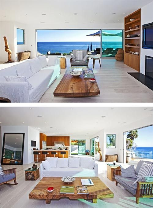 Beach House Interior In Malibu Luxury Beach House Design In Malibu
