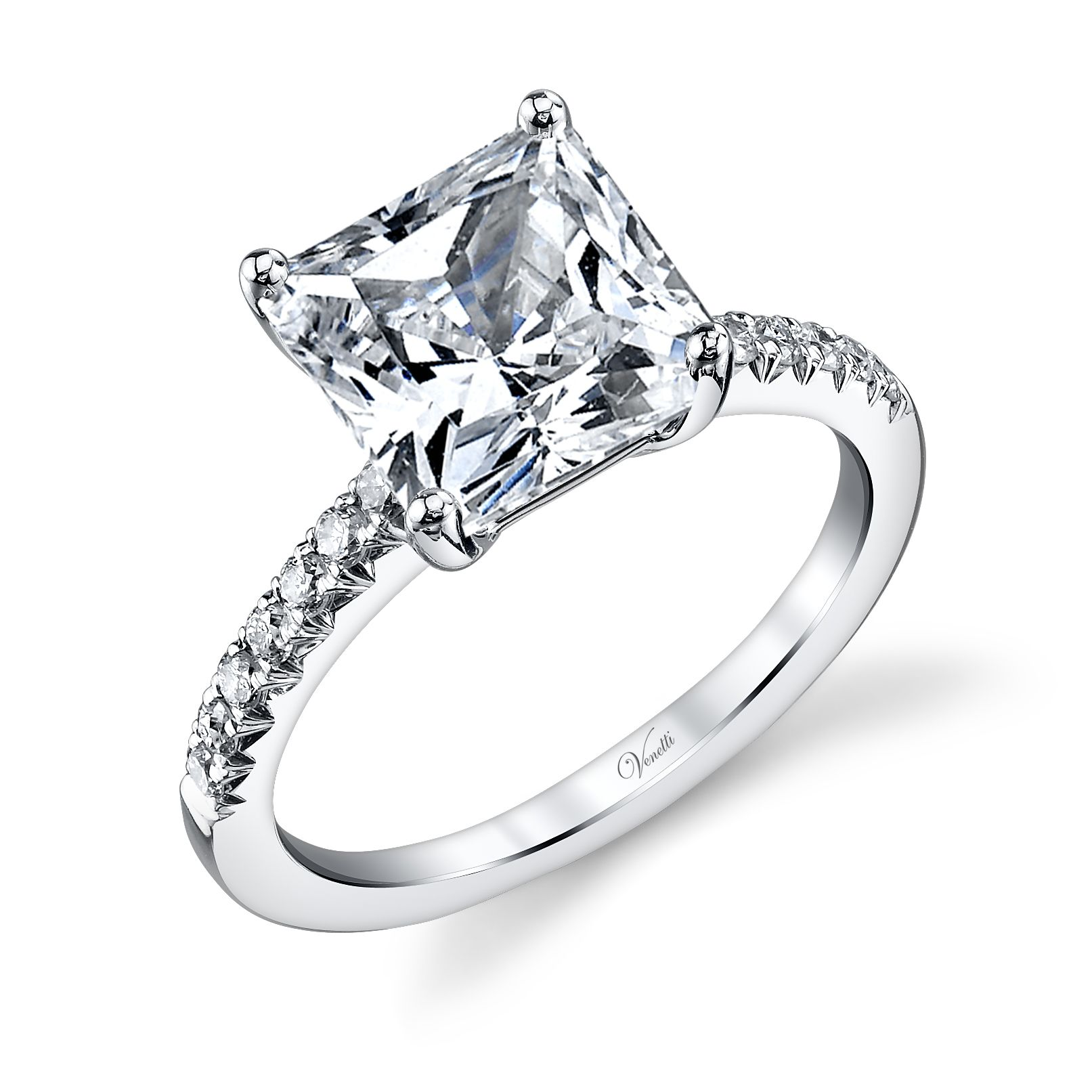Square Shaped Diamond Engagement Ring. Available at