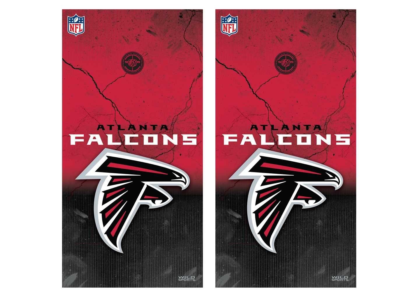 Atlanta Falcons Tailgate Toss Cornhole Vinyl Shield Decal Wraps