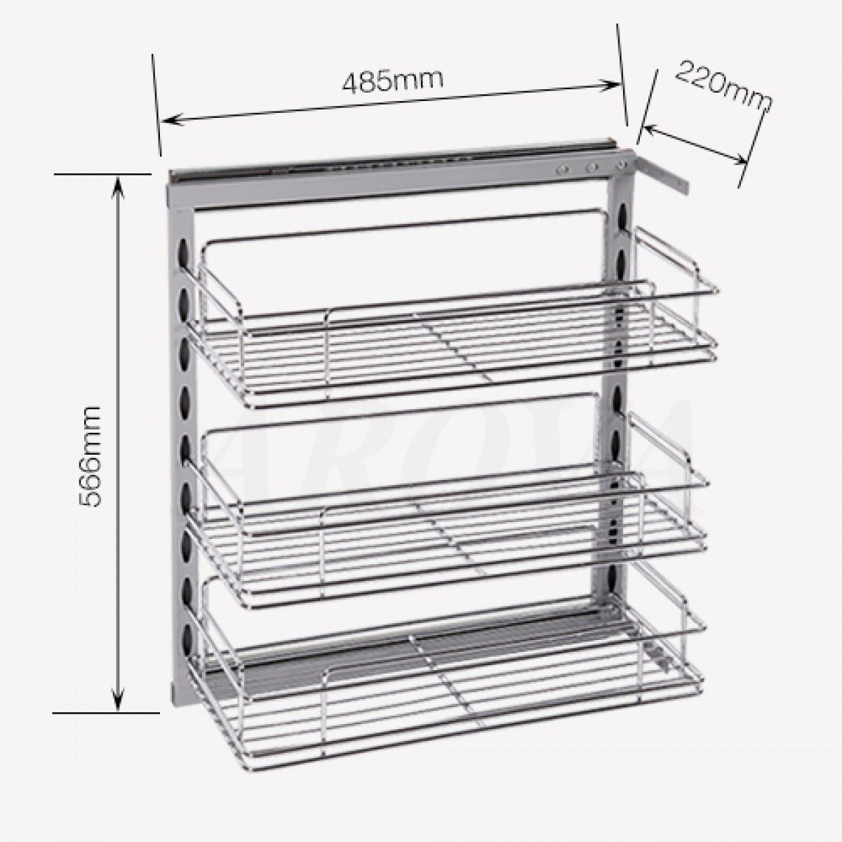 Pull Out Pantry Chrome Basket For Base Cabinet Organizers Kitchen Hafele Rev Shelf