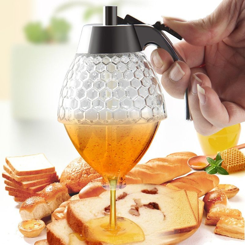 2a87a2faa415 promo acrylic 200ml honey dispenser jar container cup juice syrup ...