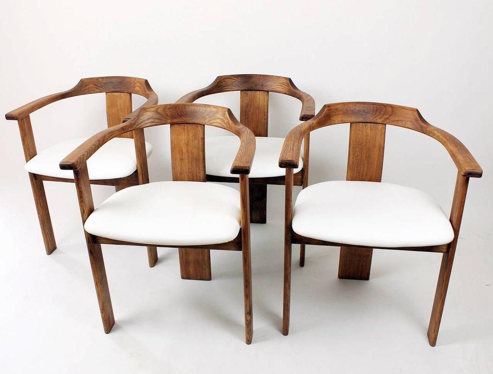 4 pcs Set Swiss Mid Century Modern Robert & Trix Haussmann Style Armchairs 1960s