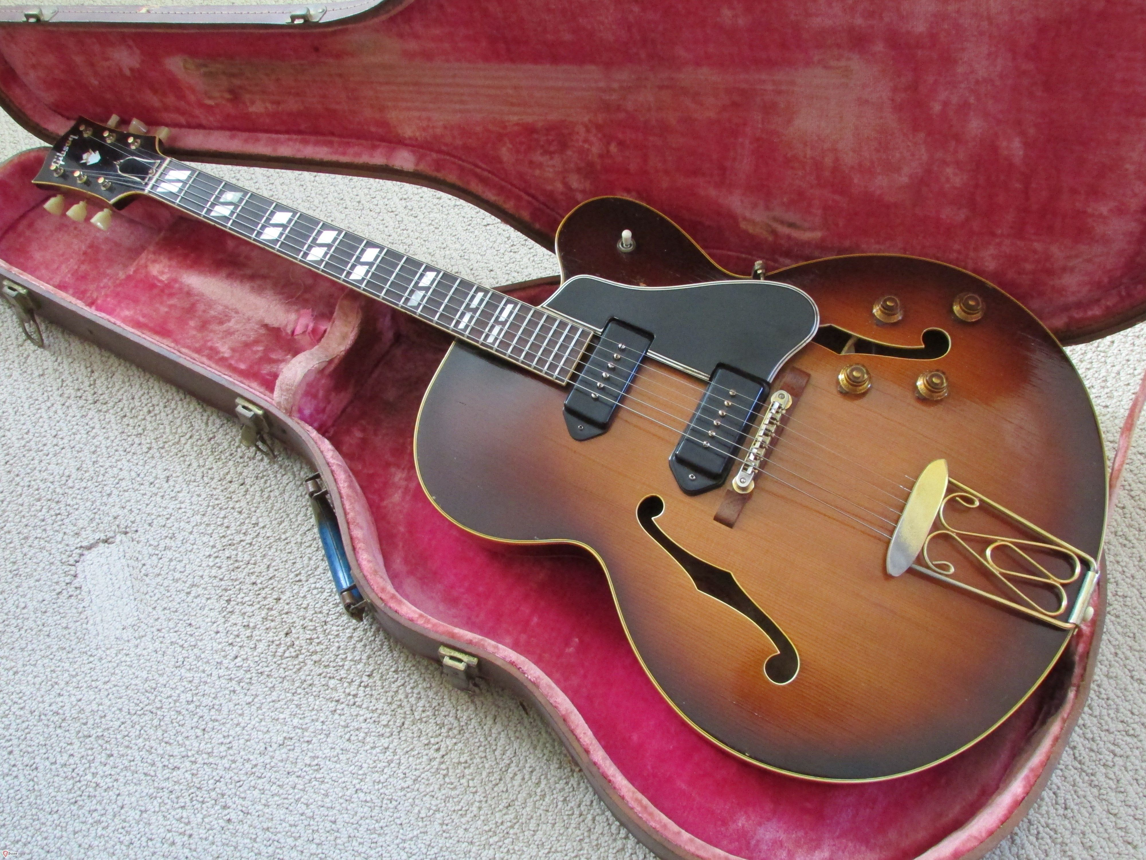 1957 Gibson Es 350t In Sunburst Early Spruce Top Model With Ohsc