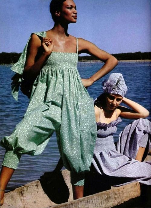 Fashion by Pierre Cardin for L'Officiel magazine, 1976.