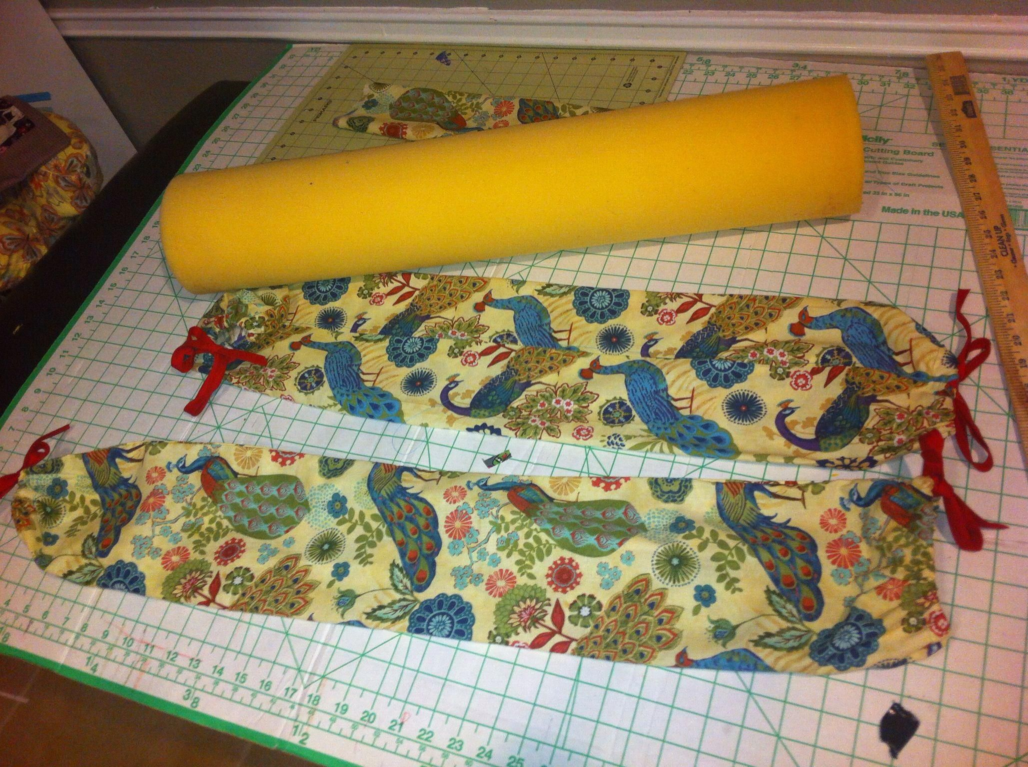 Bolster covers with end ties good for massage tables