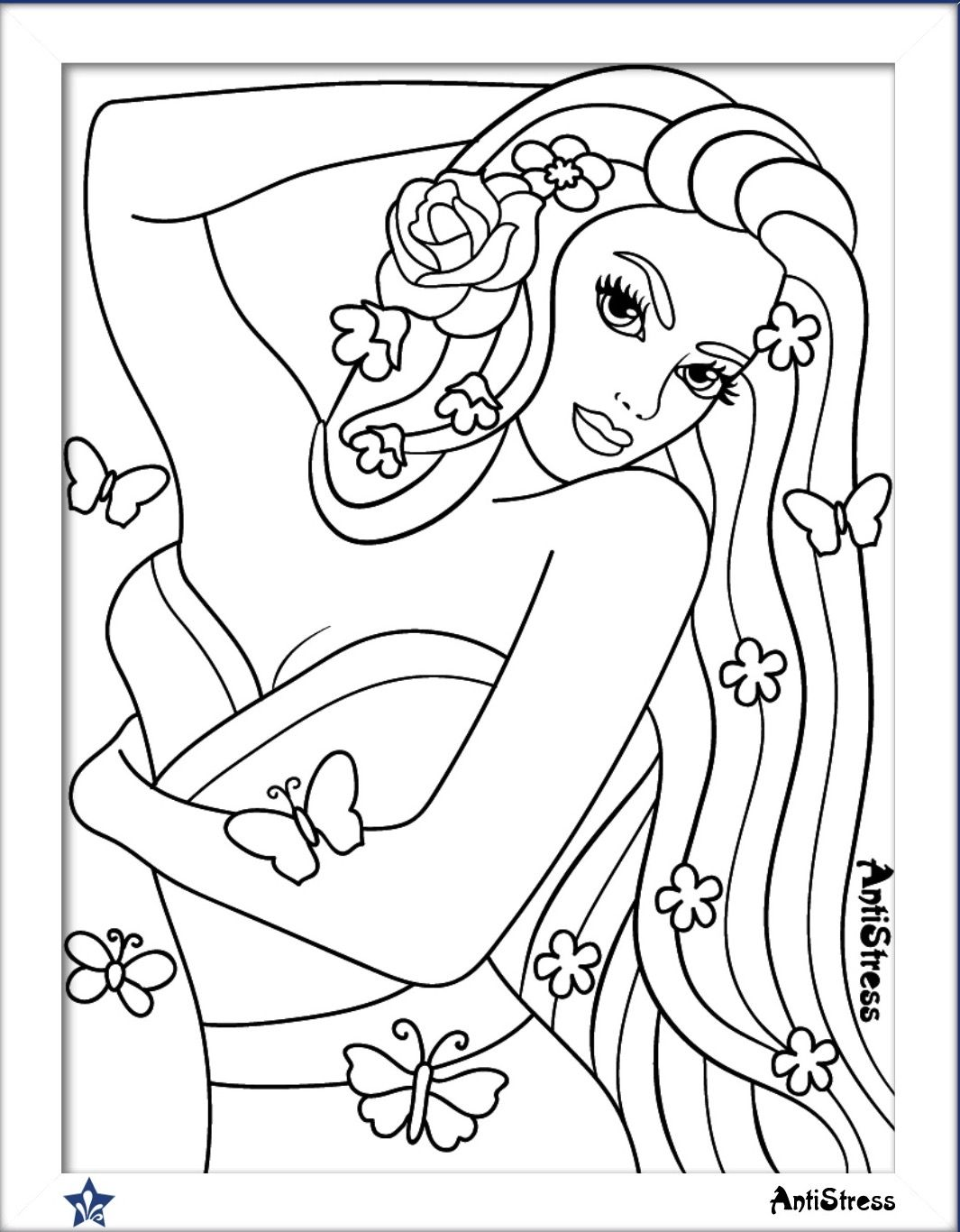 Lettering Ideas Hand Adult Coloring Sheets Colouring Books Stained Glass Fantasy Women Stress Relief Embossing