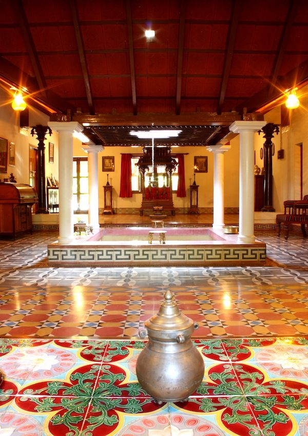 Kerala House Interior Design: Flooring ~ Athangudi Tiles (With Images)