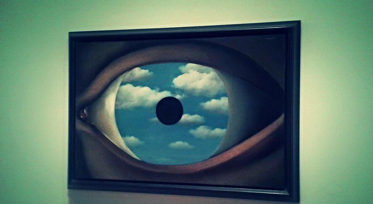 Il grande fratello ti sta guardando ren magritte - Falso specchio magritte ...