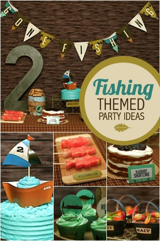 Fishing themed birthday party ideas themed birthday for Fishing themed birthday