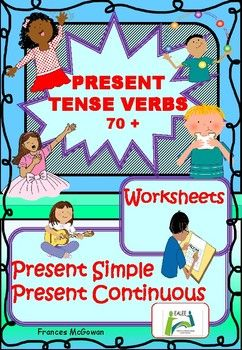 It is much easier to explain the meanings of English verb vocabulary by using visual support and less time consuming for students if they dont have to constantly make reference to a home language dictionary. Over 70 verbs are introduced in pictures with words reference pages which can be used when completing the worksheets if verbs are unknown.