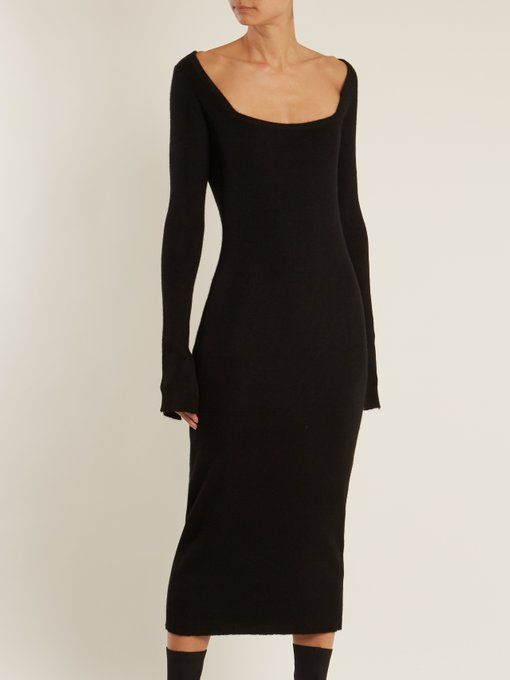 Square-neck ribbed cashmere dress Raey 9TB0K