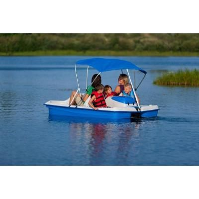 Water Wheeler 5-Person Electric Pedal Boat with Canopy-WWLELBL04 at The Home Depot  sc 1 st  Pinterest & null Water Wheeler 5-Person Electric Pedal Boat with Canopy ...