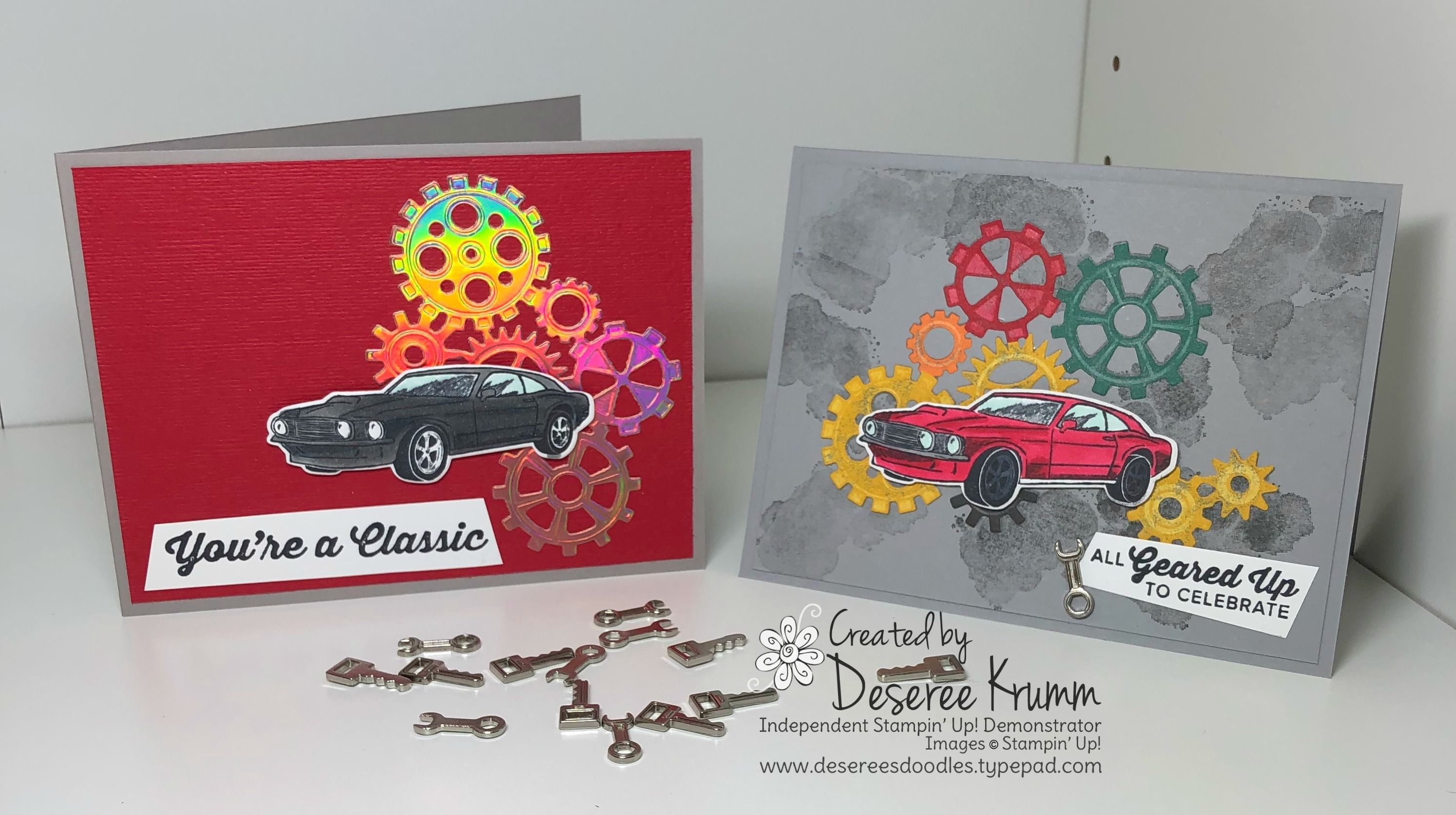 Check Out These Flashy Cards For The Car Lover In Your Life Geared Up Garage Gears Thinlits Classic Metal Elements