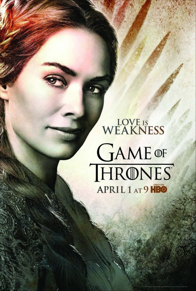 Six Character Posters Game Of Thrones Poster Cersei Lannister Hbo