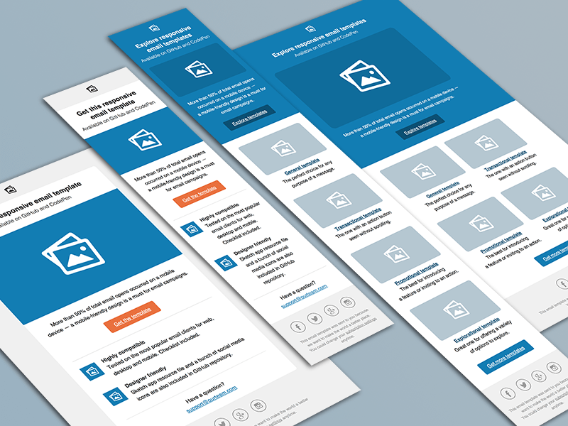 Responsive Email Templates - Free sketch resource for download ...