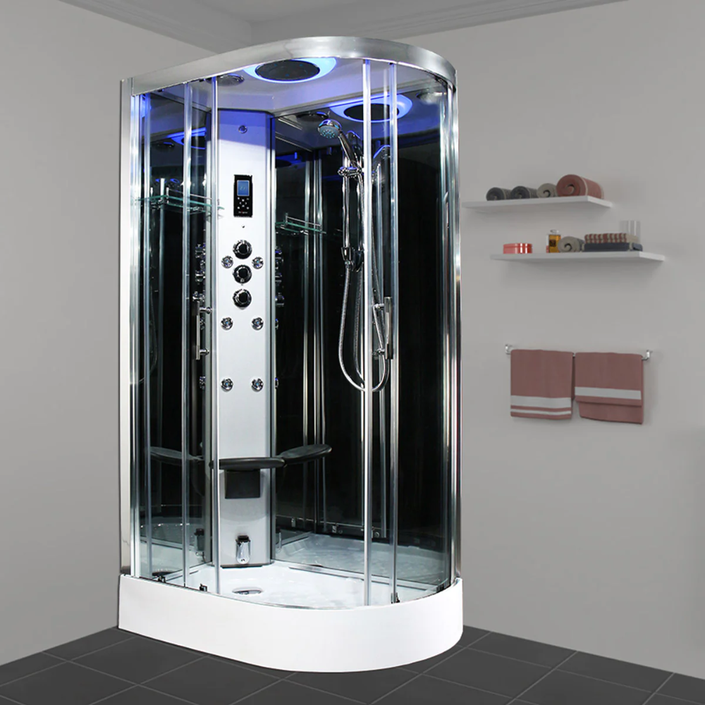 Insignia Premium Offset Quadrant Left Handed Steam Shower Cabin Shower Cabin Steam Shower Cabin Steam Showers