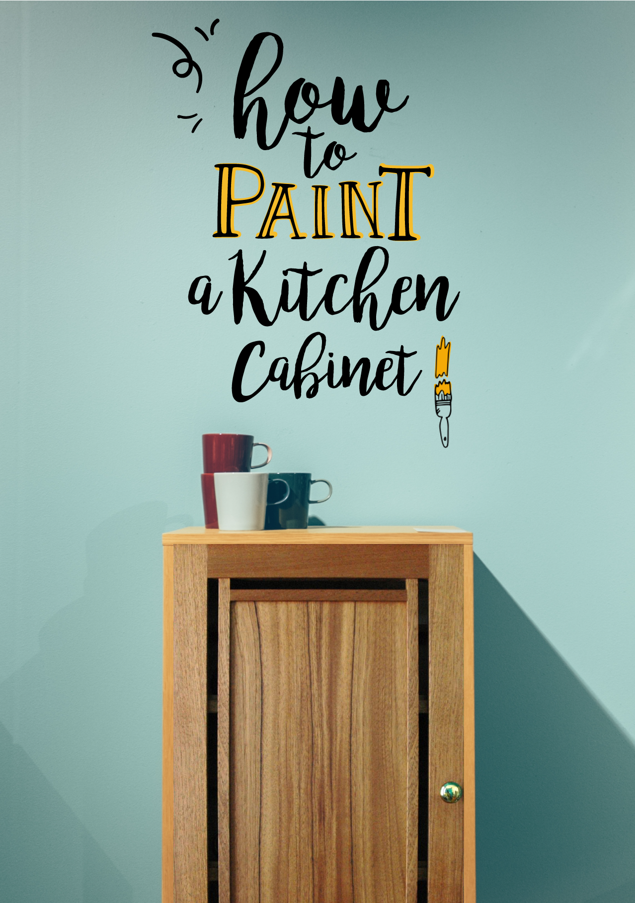 8 easy steps to paint a kitchen cabinet! Hoy, tú y yo vamos a pintar ...