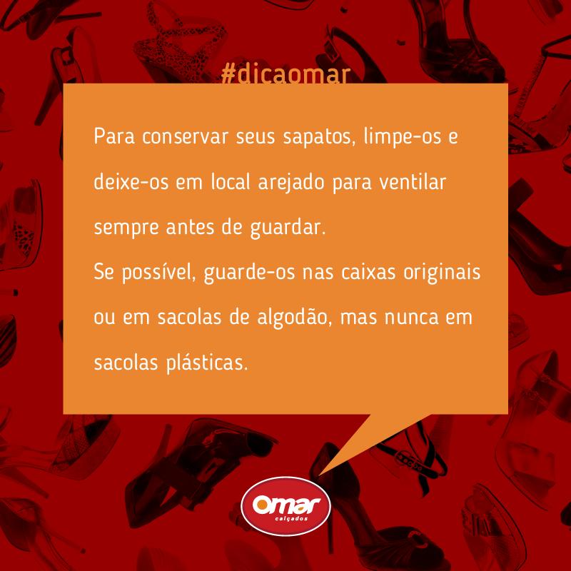 Seguindo a #DicaOmar, você poderá conservar seus sapatos por muito mais tempo! :D