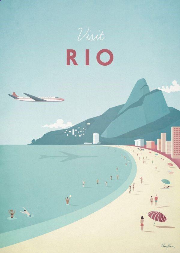 Displate Poster Rio rio Minimalist Travel Posters Displate Poster Rio rio