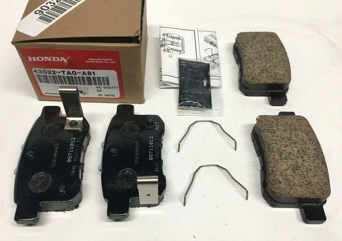Genuine Honda Oem 2010 2017 Accord Rear Brake Pads 43022 Ta0 A81 In 2021 Honda Brake Pads 2017 Honda Accord