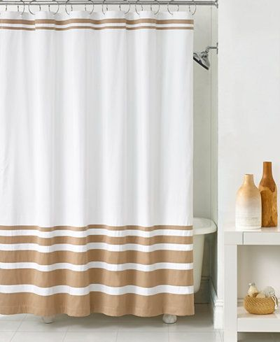 Hotel Collection Gradient Stripe Shower Curtain With Images