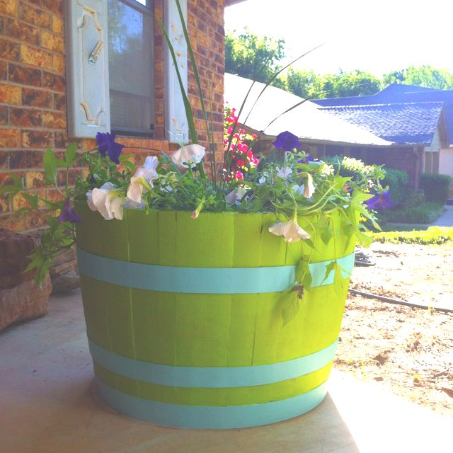 Pin By Amber Lucas On Around The House Whiskey Barrel Planter Front Flower Beds Backyard Walkway
