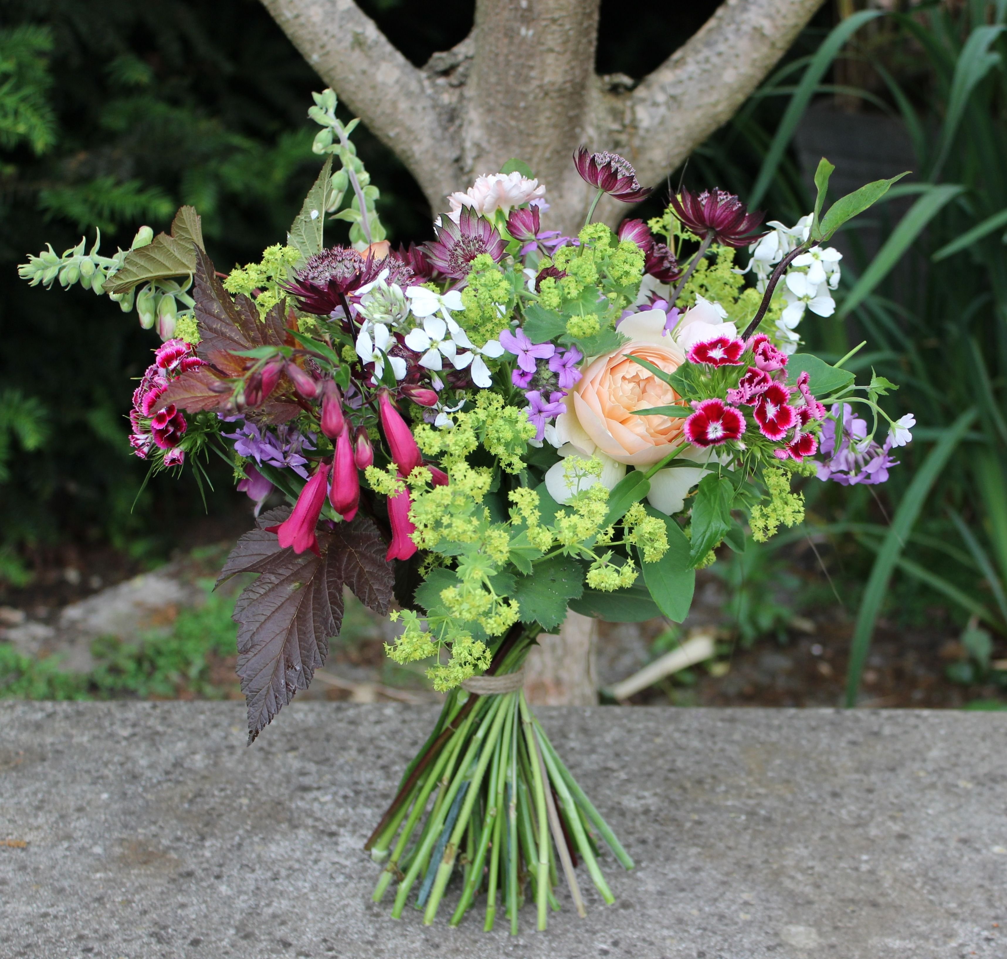 Lock Cottage Flowers Surrey UK June Bouquet All Homegrown