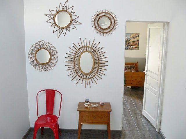 miroirs en osier Vintage passion, my 80\u0027s Pinterest Plate wall