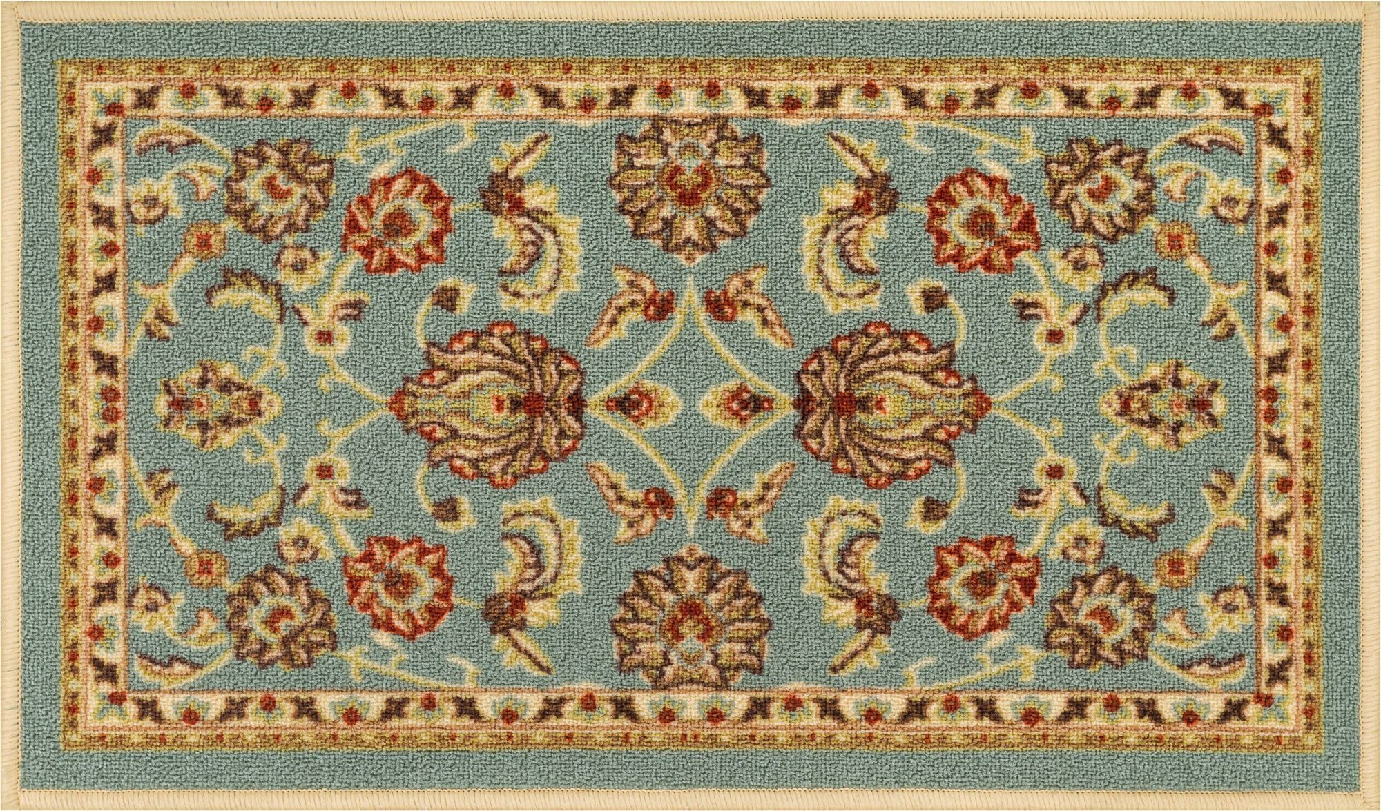 Well Woven Nonskid Slip Rubber Back Antibacterial 3x12 27 X 12 Runner Rug Timeless Oriental Blue Rubber Backed Area Rugs Traditional Persian Rugs Outdoor Rugs Washable throw rugs with rubber backing