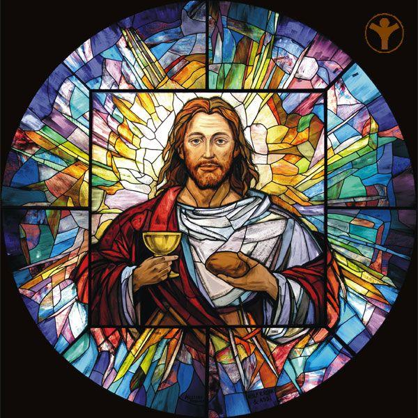 Vitrales Religiosos Buscar Con Google Vitrales Pintados Imagenes Religiosas Imagen De Cristo