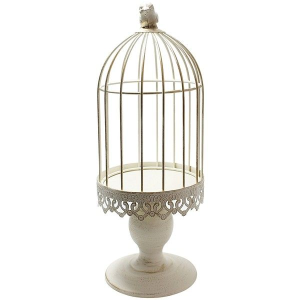 Beautiful Elegant Warving White Birdcage Candle Holder for Wedding... ❤ liked on Polyvore featuring home, home decor, candles & candleholders, birdcage candle holder, wedding candle holders, white candlestick holders, wedding birdcage and bird cage home decor