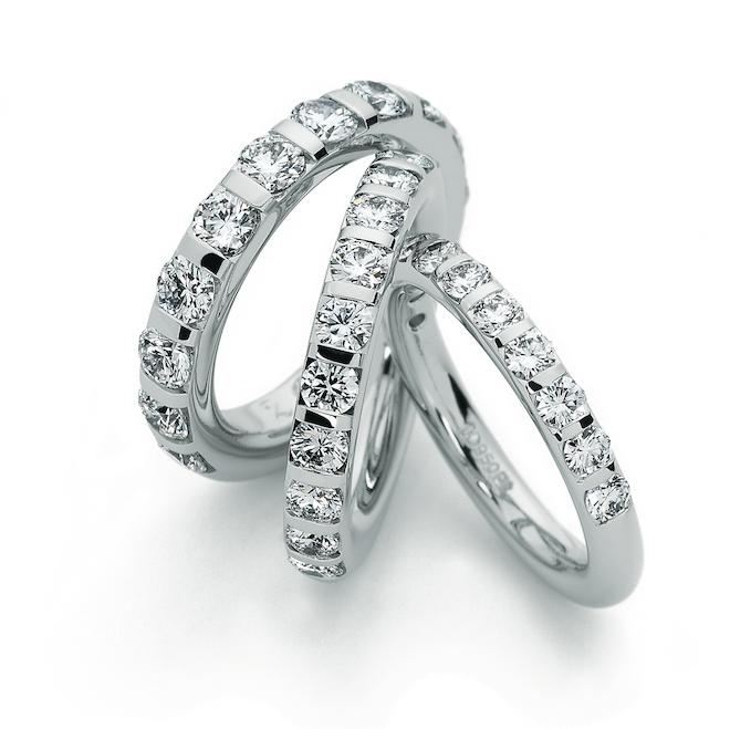 Henrich & Denzel Platinum Diamond Memory Rings ORRO