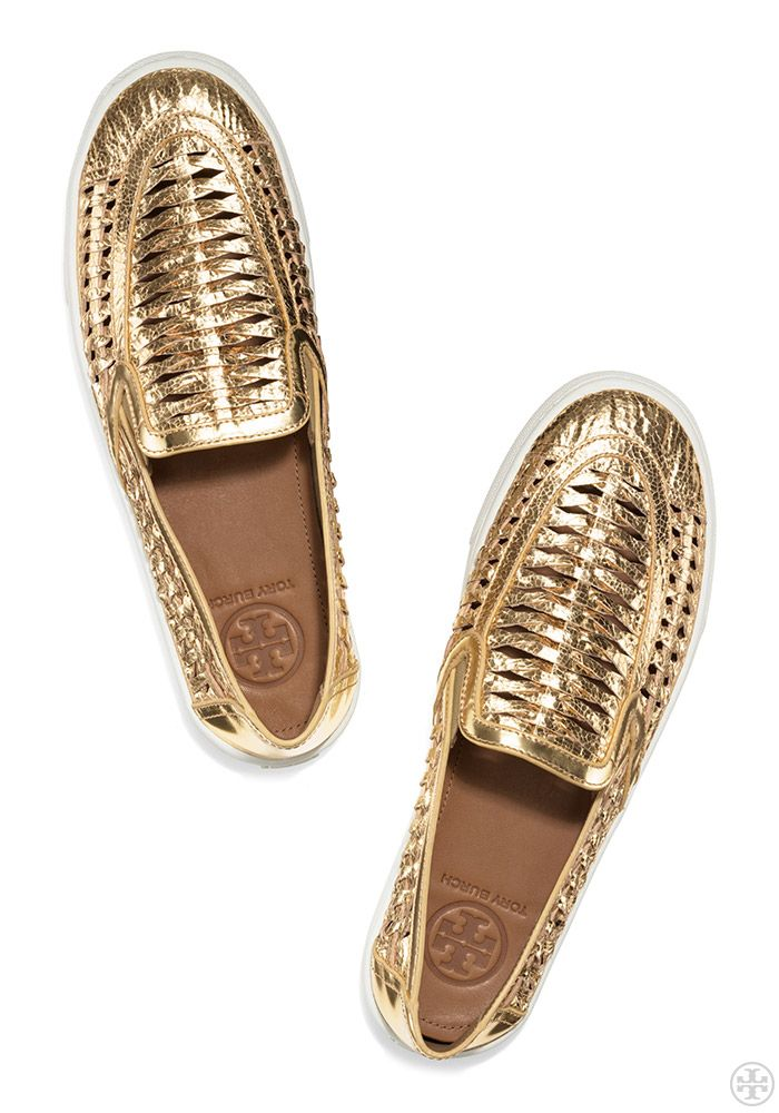 Visit Tory Burch to shop for Metallic Huarache Slip-on Sneaker and more  Womens Sneakers. Find designer shoes, handbags, clothing & more of this  season's ...