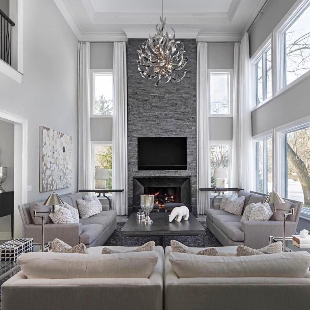 69 Fabulous Gray Living Room Designs To Inspire You: Interior Designer On TWO STORY GREAT