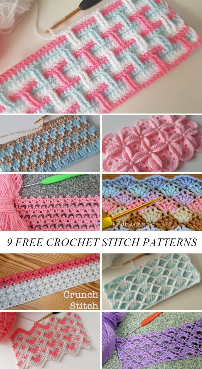 Photo of 9 Crochet Stitch Patterns For Beginners