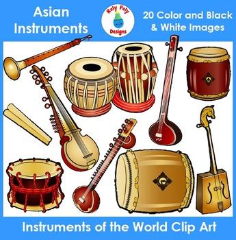Instruments Of The World Asian Instruments Clip Art Clip Art Art Set Asian
